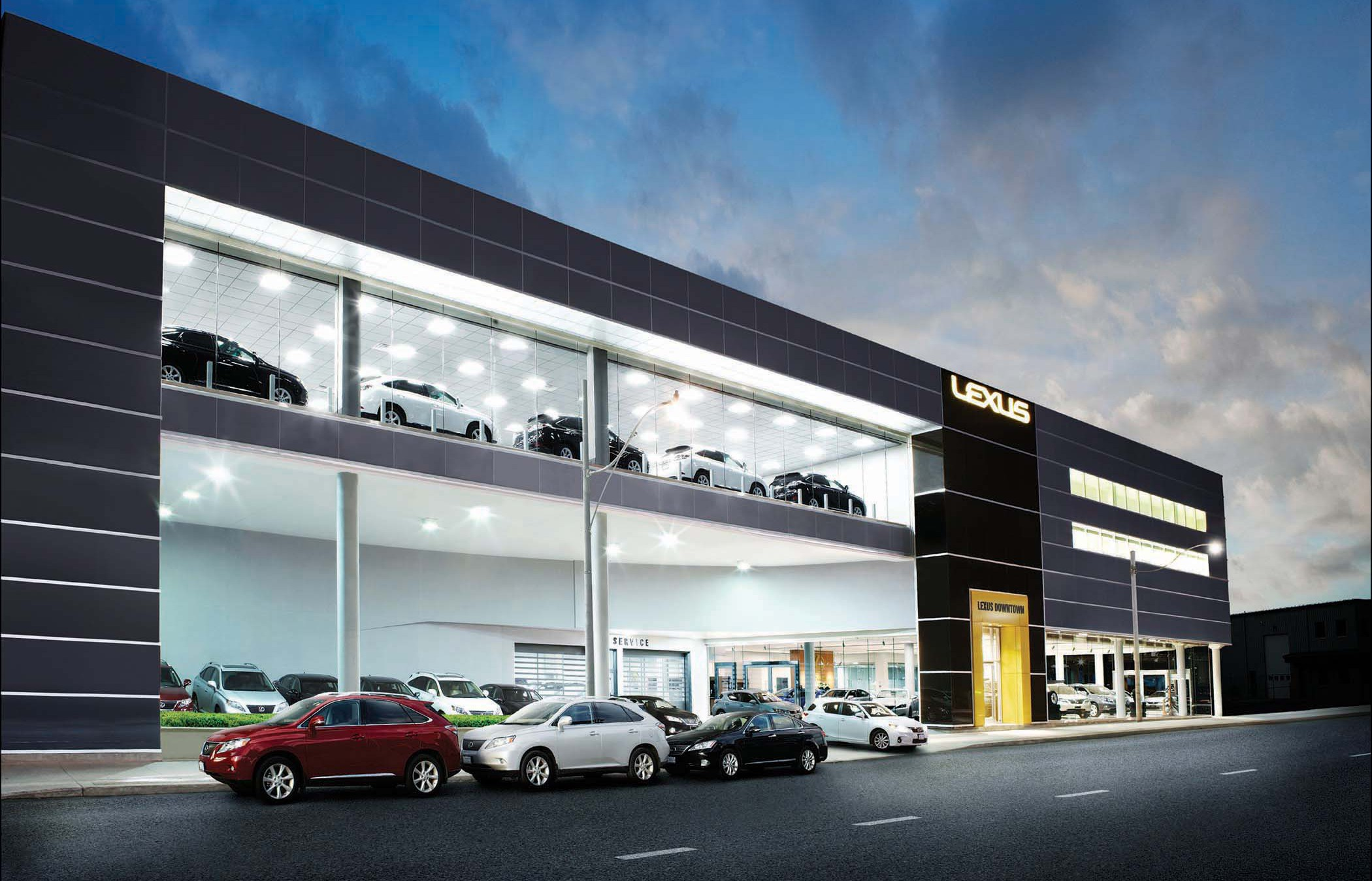Lexus Downtown Richard Ziegler Architect Inc - Lexus dealership toronto